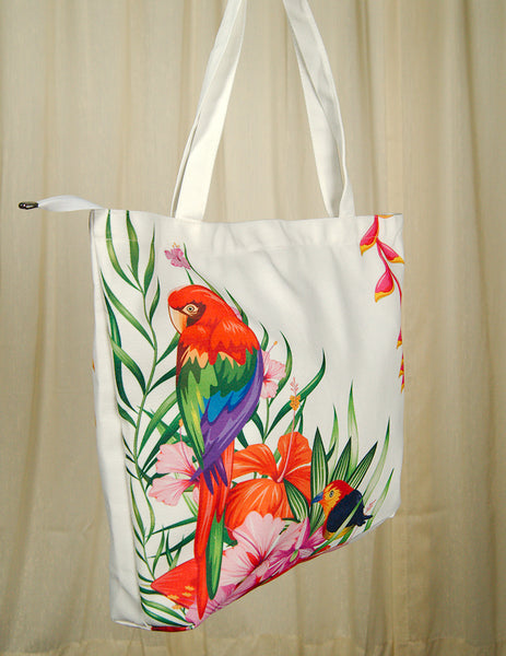 Parrot-dise Island Totebag by Cats Like Us : Cats Like Us