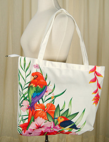 Parrot-dise Island Totebag - Cats Like Us