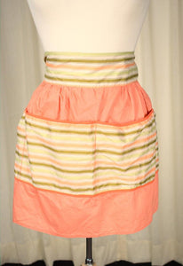 Peach & Tan Striped Apron - Cats Like Us