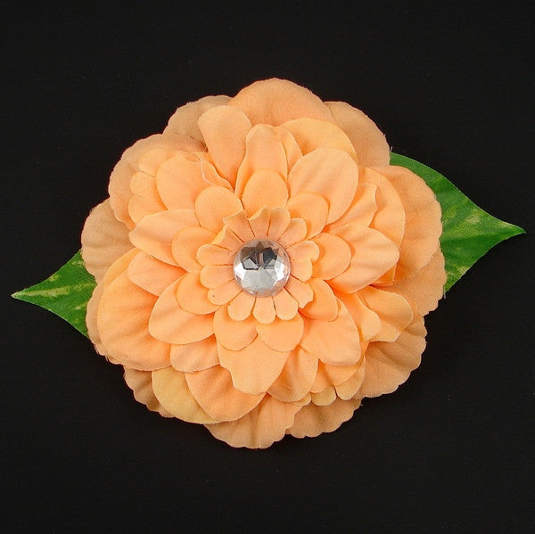 Peach Gardenia Hair Flower