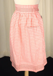 Peach Gingham Apron - Cats Like Us