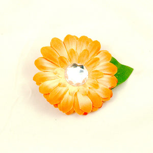 Cats Like Us Peach Mini Bling Hair Flower for sale at Cats Like Us - 1
