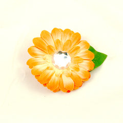 Peach Mini Bling Hair Flower
