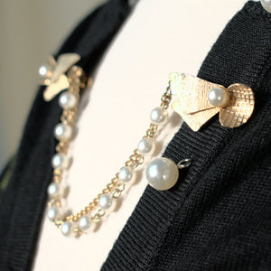 Pearl & Bow Sweater Clips
