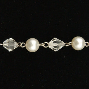 Pearl and Crystal Bracelet - Cats Like Us