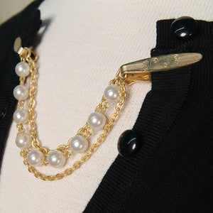 Pearl & Gold Sweater Clips