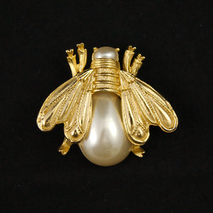 Pearl Big Bee Brooch