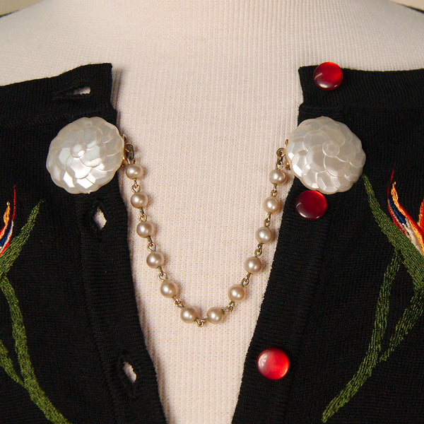 Pearl Button Sweater Clips by Cats Like Us : Cats Like Us