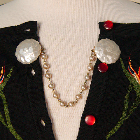 Pearl Button Sweater Clips