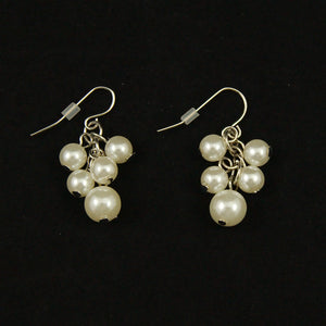 Cats Like Us Pearl Cluster Earrings for sale at Cats Like Us