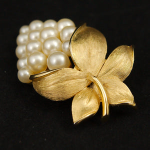 Pearl Grapes Brooch