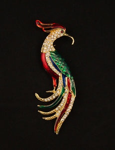 Phoenix Bird Brooch by Cats Like Us : Cats Like Us