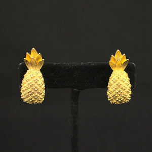 Pineapple Clip On Earrings - Cats Like Us
