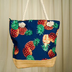 Pineapple Tiki Drink Totebag by Cats Like Us : Cats Like Us