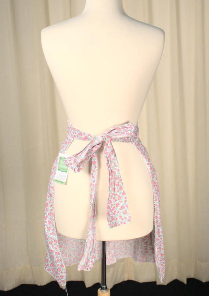 Pink and Blue Floral Apron - Cats Like Us