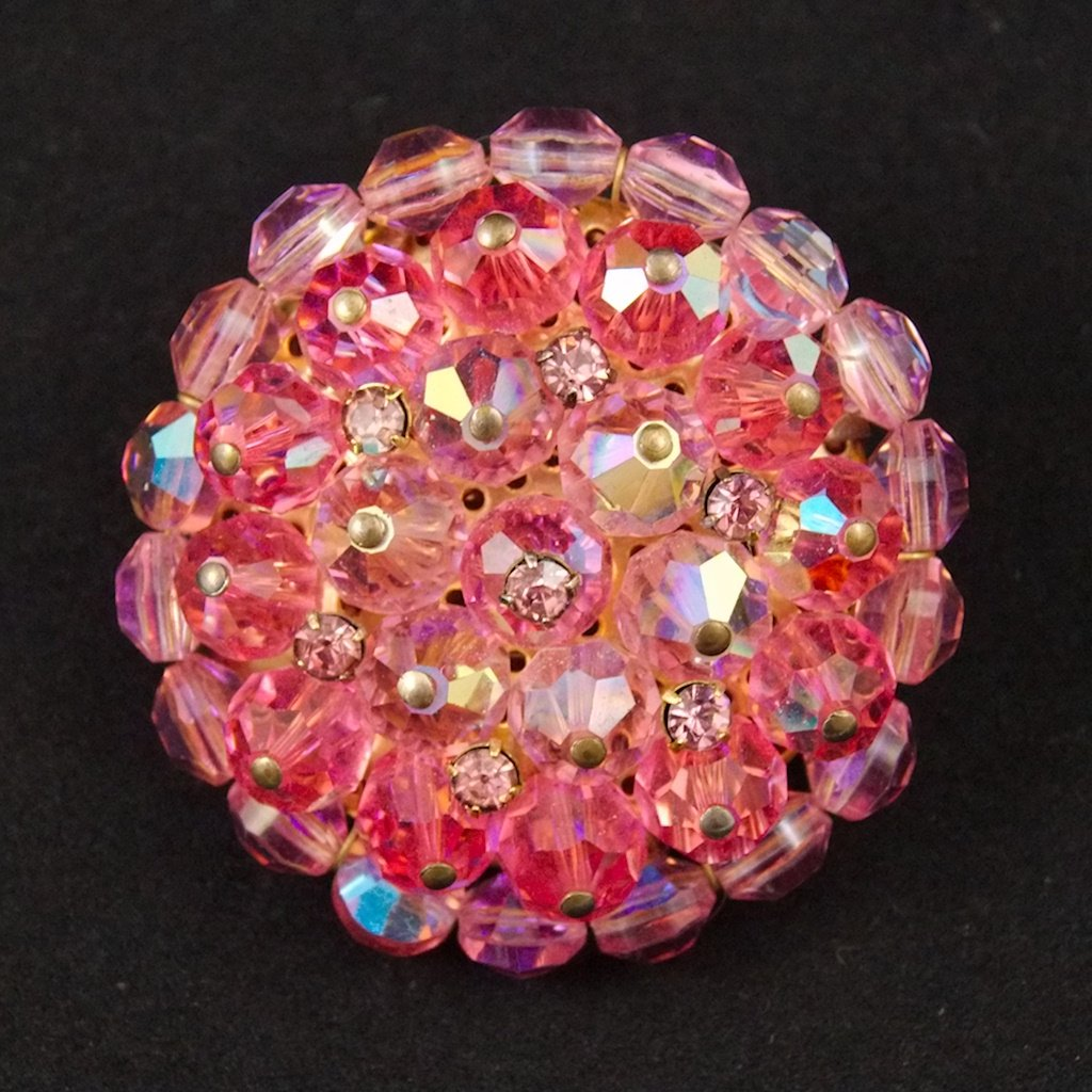 Pink Aurora Borealis Brooch - Cats Like Us