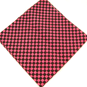 Pink Checker Bandana by Cats Like Us : Cats Like Us