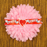 Cats Like Us Pink Love Banner Hair Flower