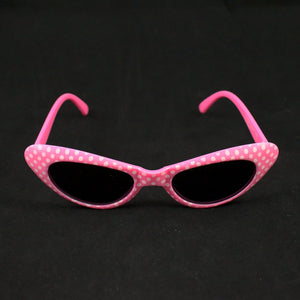 Pink Meow Polka Dot Sunglasses - Cats Like Us