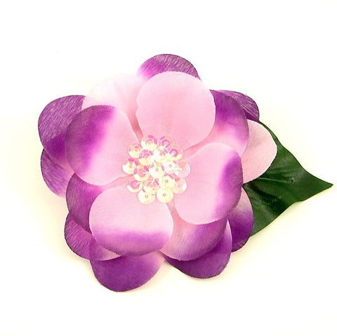 Pink Purple Sequin Hair Flower by Cats Like Us : Cats Like Us