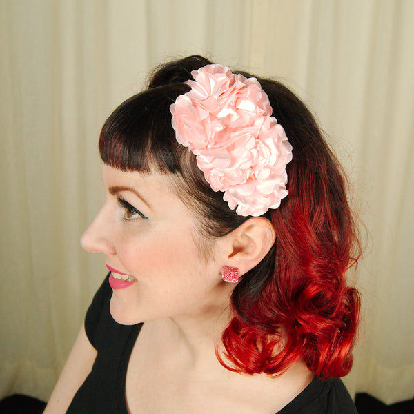 Pink Rosette Headband - Cats Like Us