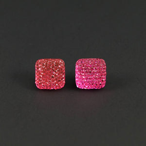 Pink Sparkle Earrings - Cats Like Us