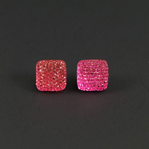 Pink Sparkle Earrings