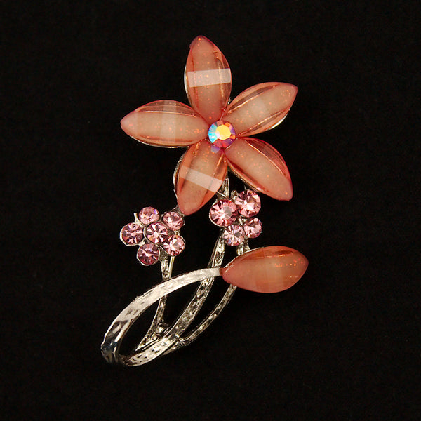 Pink Sparkly Flower Brooch by Cats Like Us : Cats Like Us