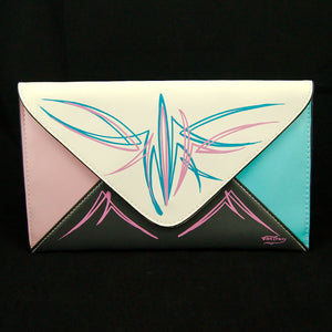 Pinstriped Envelope Clutch Bag by Cats Like Us : Cats Like Us