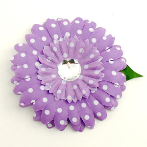 Purple Dot Daisy Hair Flower by Cats Like Us : Cats Like Us