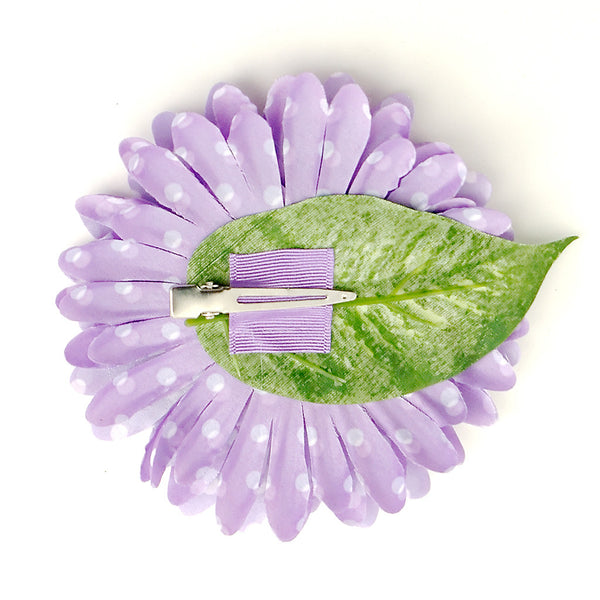 Purple Dot Daisy Hair Flower by Cats Like Us