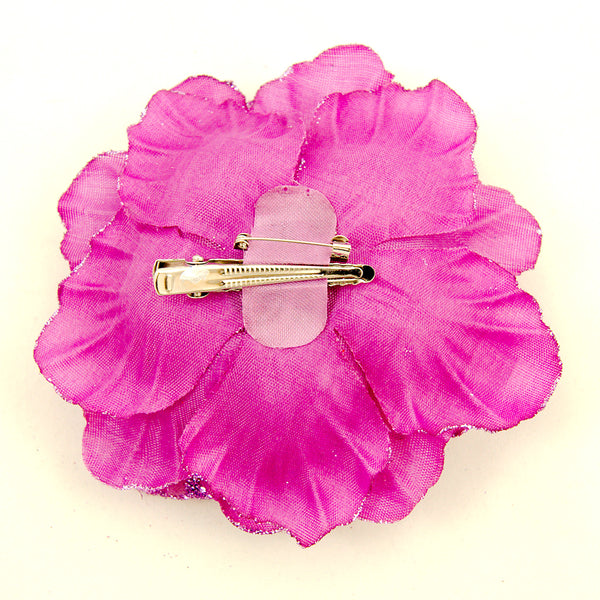 Purple Rose Hair Clip Pin by Cats Like Us : Cats Like Us