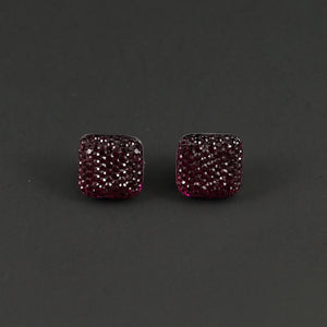 Raspberry Sparkle Earrings by Cats Like Us : Cats Like Us