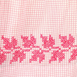Red Check Embroidered Apron - Cats Like Us