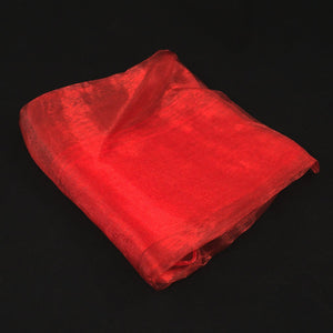 Red Chiffon Hair Scarf
