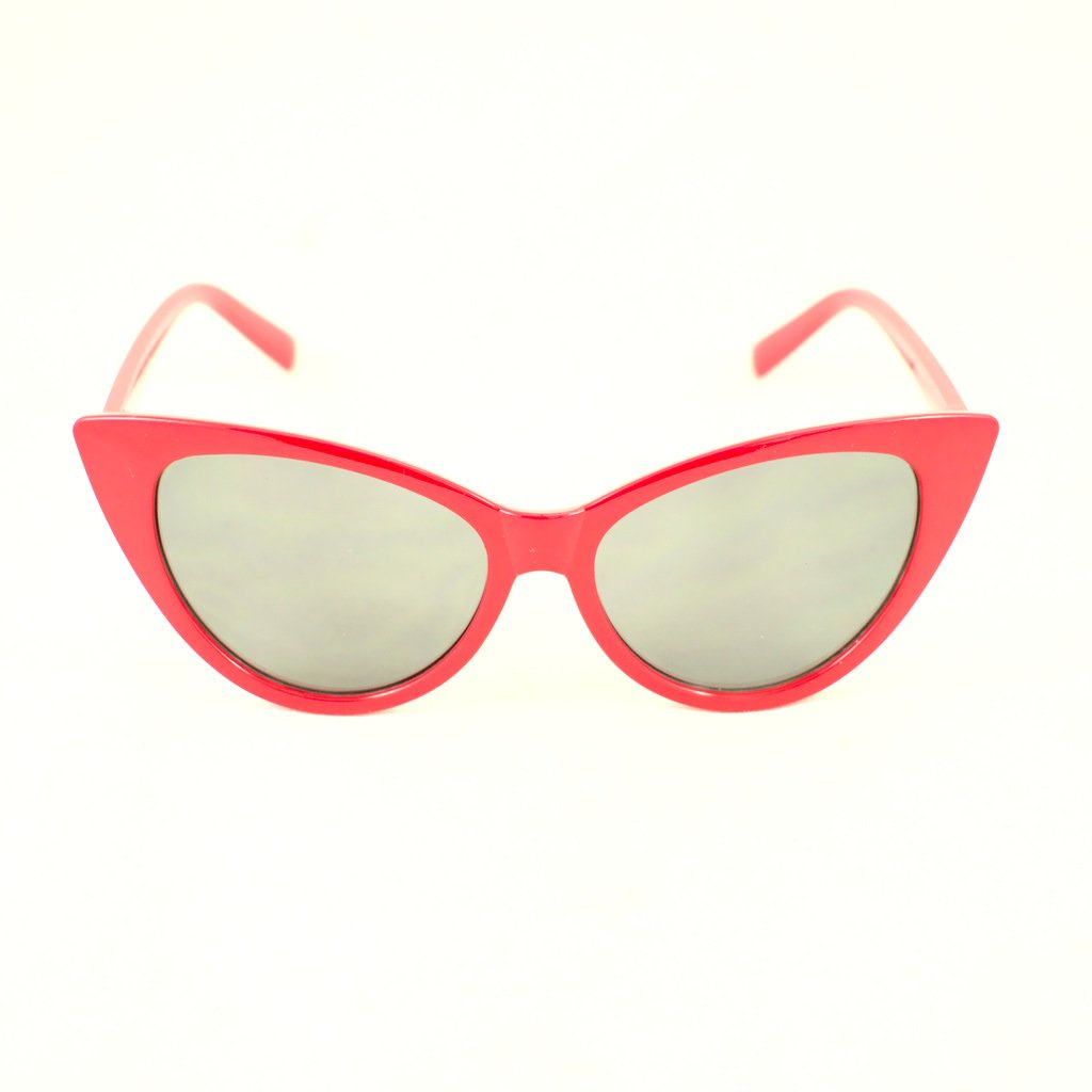Red Classic Cateye Sunglasses