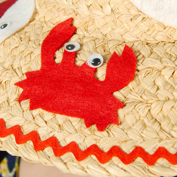 Red Fish MCM Straw Sun Hat by Cats Like Us : Cats Like Us
