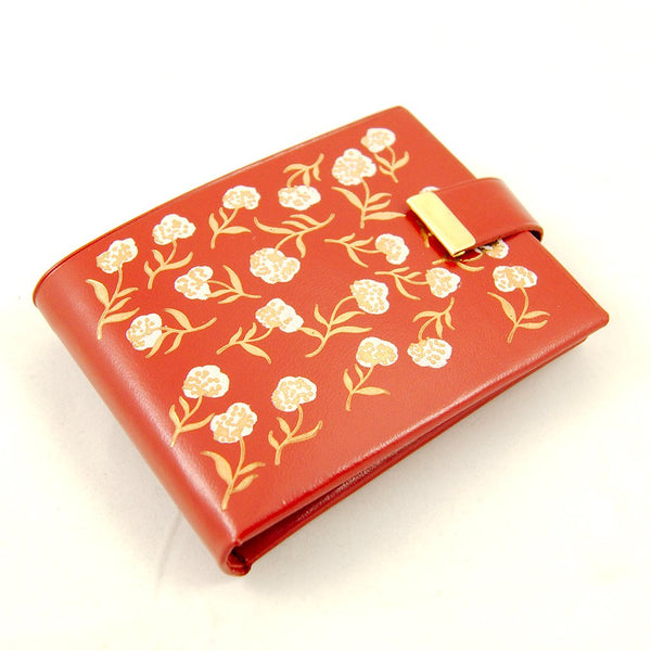 Red Floral Embossed Wallet - Cats Like Us