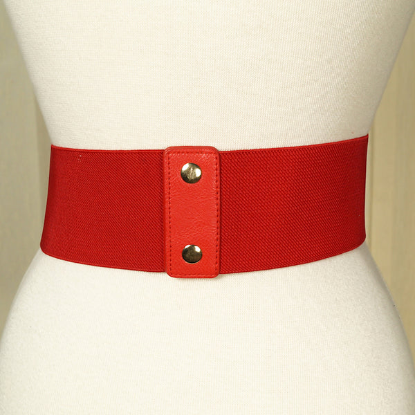 Red Swirl Cinch Belt by Cats Like Us : Cats Like Us