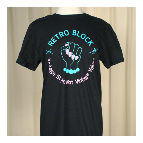 Retro Block Vintage Style T - Cats Like Us