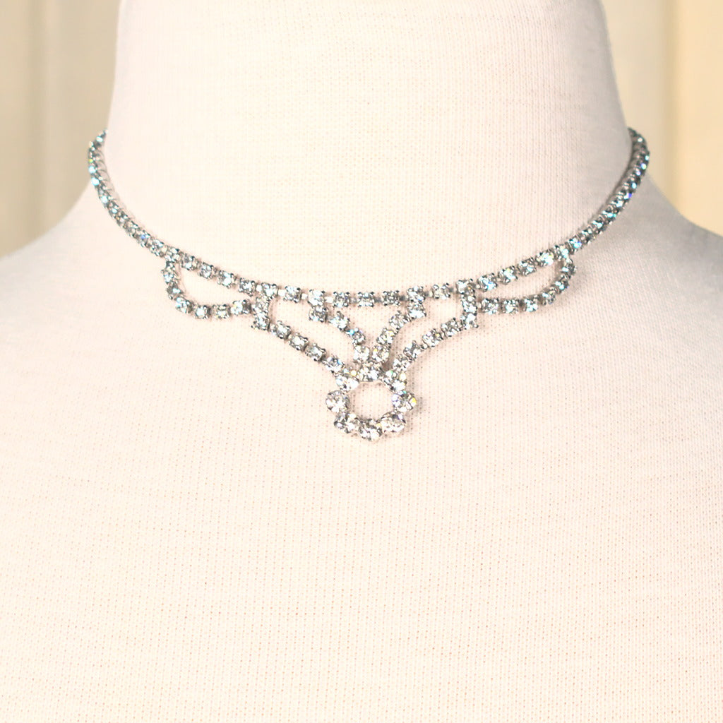 Rhinestone Deco Vintage Necklace