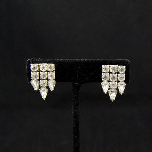Vintage Rhinestone Drop Earrings