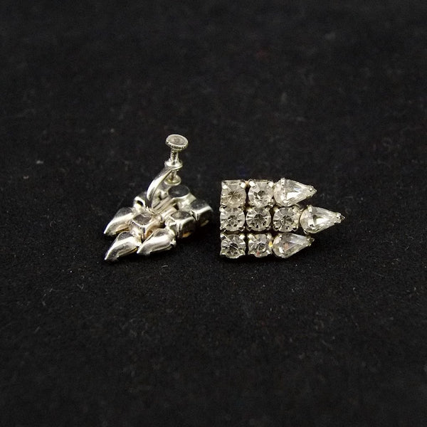 Vintage Rhinestone Drop Earrings - Cats Like Us