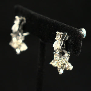 Rhinestone Flower Vintage Earrings