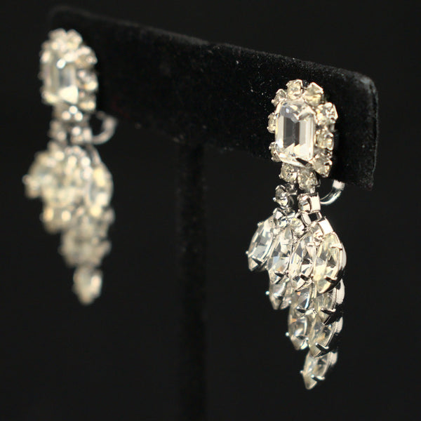 Rhinestone Grape Vintage Earrings