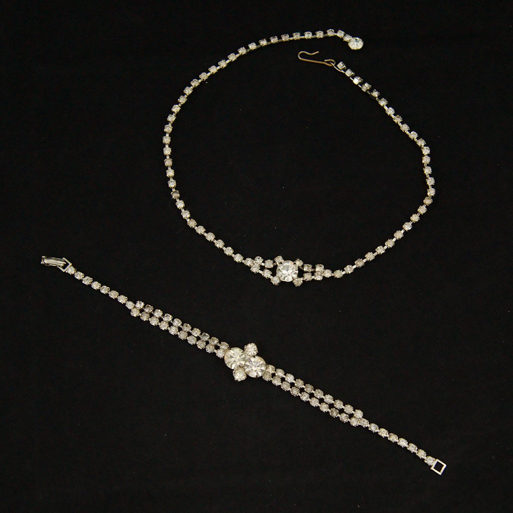 Rhinestone Necklace & Bracelet
