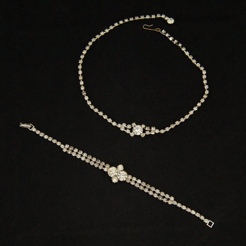 Rhinestone Necklace & Bracelet - Cats Like Us