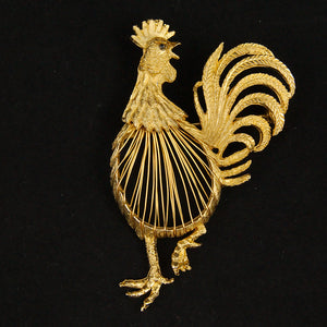 Rooster Wire Brooch