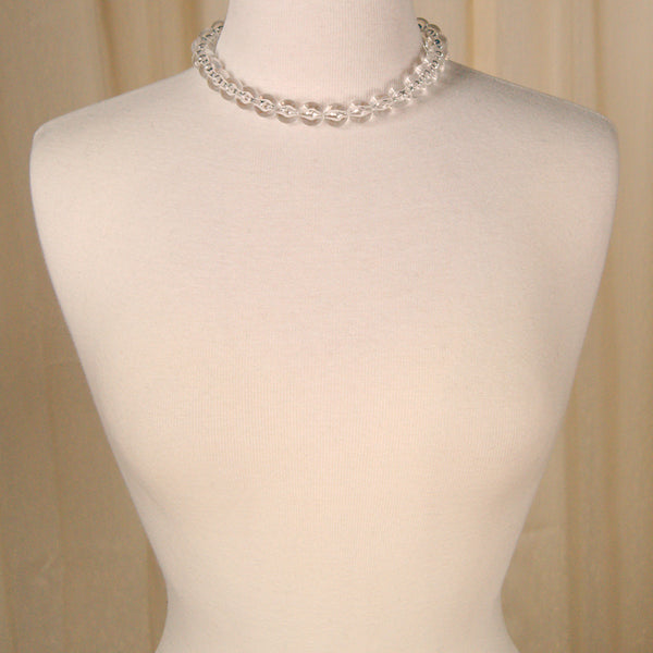Round Clear Bead Necklace