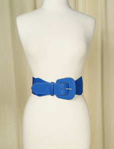 Royal Blue Pinup Cinch Belt
